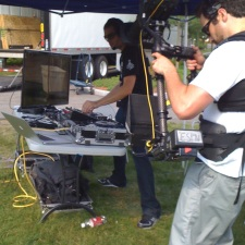 Steve Porter did on location LIVE mixing during SportsNation's 2 year Anniversary Party.